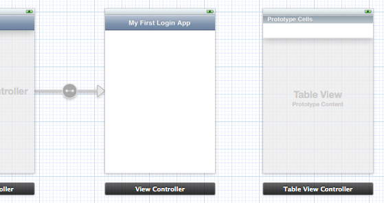 xcode storyboard table view controller